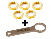 "Combo: 1"" Die, Box-End Wrench and 5x Lock Ring Nut 1"""