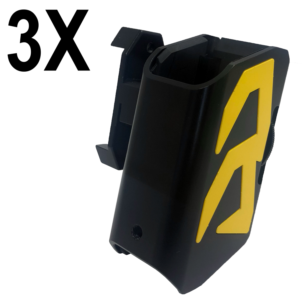 Combo: 3x Alpha-X Pouch with Color Inlays