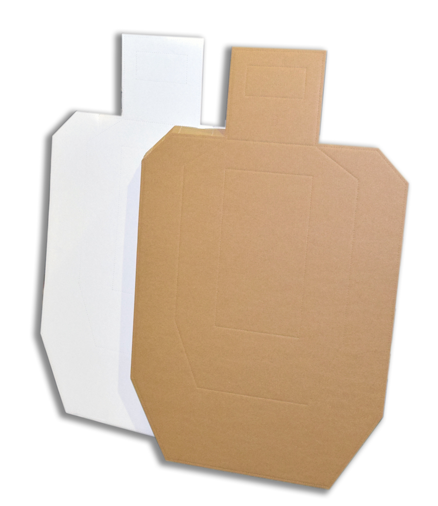 USPSA Metric Cardboard targets white back - 50 pack