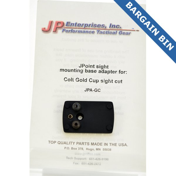 BB700019 JP Enterprises Jpoint Reflex sight mount (Colt Gold Cup) - New