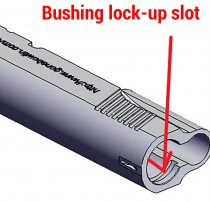 Bushing lock-up slot